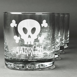 Pirate Whiskey Glasses (Set of 4) (Personalized)