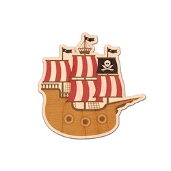 Pirate Genuine Wood Sticker (Personalized)