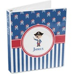 Blue Pirate 3-Ring Binder (Personalized)