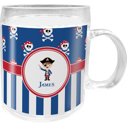 Blue Pirate Acrylic Kids Mug (Personalized)