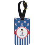 Blue Pirate Aluminum Luggage Tag (Personalized)