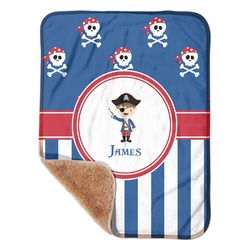 "Blue Pirate Sherpa Baby Blanket 30"" x 40"" (Personalized)"