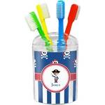 Blue Pirate Toothbrush Holder (Personalized)