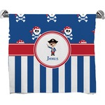 Blue Pirate Full Print Bath Towel (Personalized)