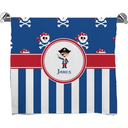 Blue Pirate Full Print Bath Towel (Personalized)