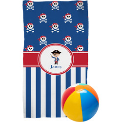 Blue Pirate Beach Towel (Personalized)