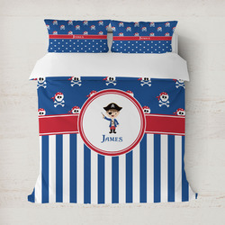 Blue Pirate Duvet Cover (Personalized)