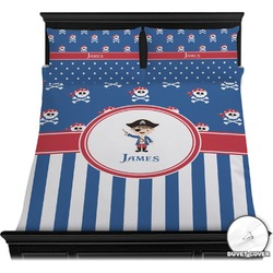 Blue Pirate Duvet Cover Set (Personalized)