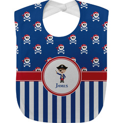 Blue Pirate Baby Bib (Personalized)