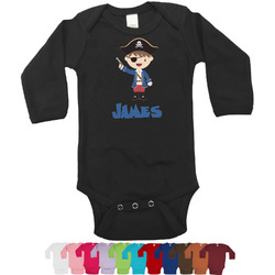 Blue Pirate Bodysuit - Black (Personalized)
