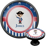 Blue Pirate Cabinet Knob (Black) (Personalized)