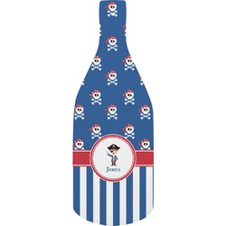 Blue Pirate Bottle Shaped Cutting Board (Personalized)