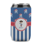 Blue Pirate Can Sleeve (12 oz) (Personalized)