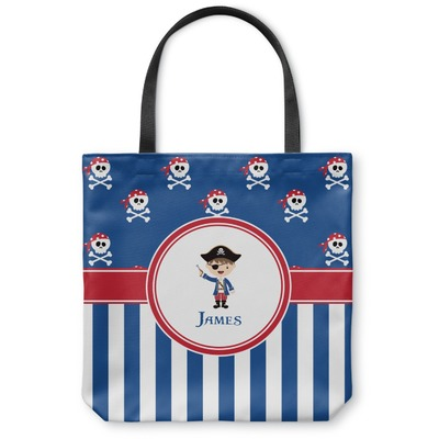 Blue Pirate Canvas Tote Bag (Personalized)