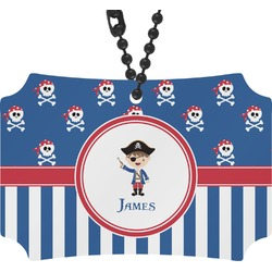 Blue Pirate Rear View Mirror Ornament (Personalized)