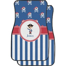 Blue Pirate Car Floor Mats (Front Seat) (Personalized)