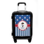 Blue Pirate Carry On Hard Shell Suitcase (Personalized)