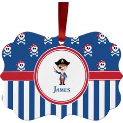 Blue Pirate Ornament (Personalized)