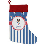 Blue Pirate Holiday Stocking w/ Name or Text