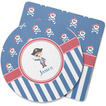 Blue Pirate Rubber Backed Coaster (Personalized)