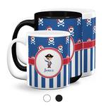Blue Pirate Coffee Mugs (Personalized)