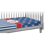 Blue Pirate Crib Fitted Sheet (Personalized)