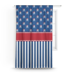 Blue Pirate Curtain (Personalized)