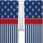 Blue Pirate Curtains (2 Panels Per Set) (Personalized)