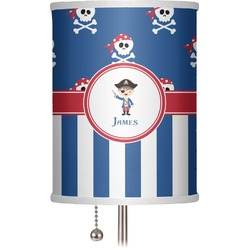 """Blue Pirate 7"""" Drum Lamp Shade (Personalized)"""