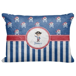 "Blue Pirate Decorative Baby Pillowcase - 16""x12"" (Personalized)"