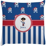 Blue Pirate Decorative Pillow Case (Personalized)