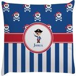 Blue Pirate Decorative Pillow Case (Personalized)