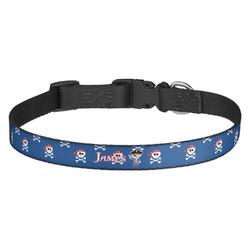 Blue Pirate Dog Collar - Medium (Personalized)