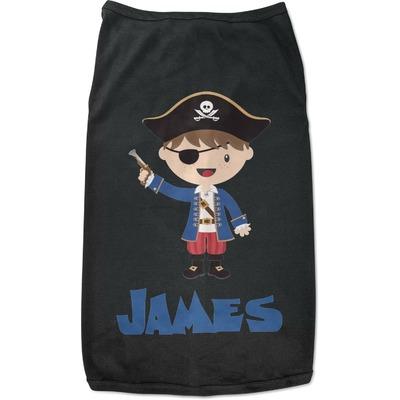 Blue Pirate Black Pet Shirt (Personalized)