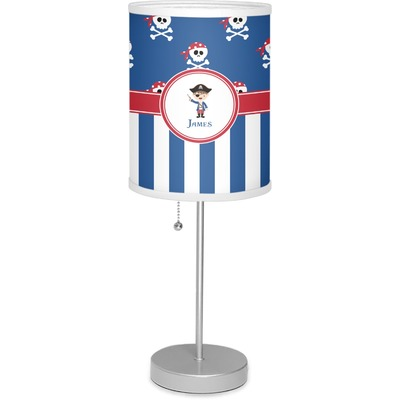 """Blue Pirate 7"""" Drum Lamp with Shade (Personalized)"""