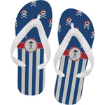 Blue Pirate Flip Flops (Personalized)