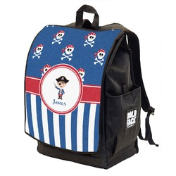 Blue Pirate Backpack w/ Front Flap  (Personalized)
