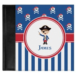Blue Pirate Genuine Leather Baby Memory Book (Personalized)