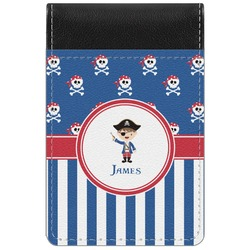 Blue Pirate Genuine Leather Small Memo Pad (Personalized)