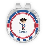 Blue Pirate Golf Ball Marker - Hat Clip