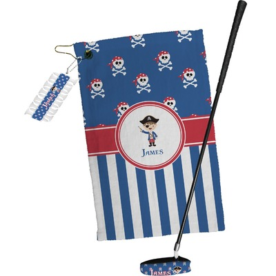 Blue Pirate Golf Towel Gift Set (Personalized)