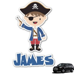 Blue Pirate Graphic Car Decal (Personalized)