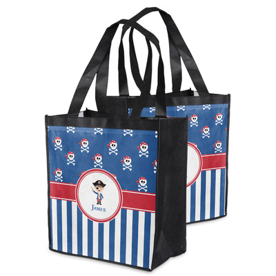 Blue Pirate Grocery Bag (Personalized)