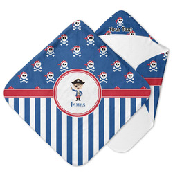 Blue Pirate Hooded Baby Towel (Personalized)