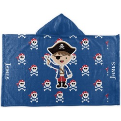 Blue Pirate Kids Hooded Towel (Personalized)