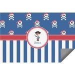 Blue Pirate Indoor / Outdoor Rug (Personalized)