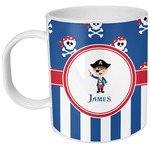 Blue Pirate Plastic Kids Mug (Personalized)