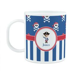 Blue Pirate Plastic Kids Mug (Personalized)