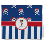 Blue Pirate Kitchen Towel - Full Print (Personalized)
