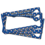 Blue Pirate License Plate Frame (Personalized)